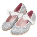 (16.5~22.5公分)小花童系列皇家銀色蕾絲蝴蝶結公主鞋...