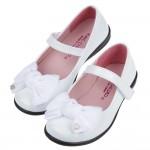 (17~20公分)台灣製緞面蝴蝶結白色公主鞋R#FG3KM*XGX