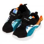 (16~20公分)未來流行炫銀黑色寬楦透氣兒童運動鞋