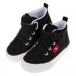 (17~22公分)台灣製流行黑色好搭帆布兒童休閒鞋