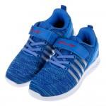 (22~24.5公分)流行針織鞋面漸層藍色透氣兒童運動鞋