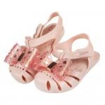 (14~17.5公分)ZAXY幻想曲裸粉色蝴蝶結兒童護趾涼鞋...