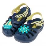 (14~17公分)Ipanema海上小英雄藍黃色寶寶護趾涼鞋香香鞋B#HD4CB*BBX