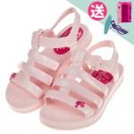 (16~22公分)BARBIE_芭比公主夏日粉紅色兒童涼鞋