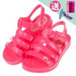 (16~22公分)BARBIE_芭比公主夏日桃紅色兒童涼鞋