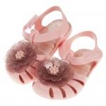 (12.5~17.5公分)ZAXY綺麗山茶花裸粉色寶寶護趾涼鞋香香鞋