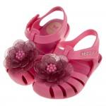 (12.5~17.5公分)ZAXY綺麗山茶花粉紅色寶寶護趾涼鞋香香鞋