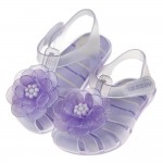 (12.5~17.5公分)ZAXY綺麗山茶花淡紫色寶寶護趾涼鞋香香鞋