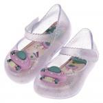 (12.5~17.5公分)ZAXY飛碟寶貝閃亮白寶寶護趾涼鞋...