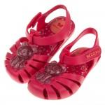 (12.5~17.5公分)ZAXY小熊軟糖桃紅色寶寶護趾涼鞋...
