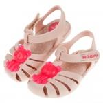 (12.5~17.5公分)ZAXY小熊軟糖裸粉色寶寶護趾涼鞋...