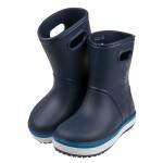 (14~21公分)Crocs卡駱馳經典卡駱班深藍兒童雨靴V#...