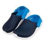 (18~22公分)Crocs卡駱馳趣味LiteRide藍色兒童布希鞋V#GN4NB*XBB