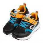 (19~23公分)KangaROOS袋鼠極速RacerEVO酷炫黑藍兒童運動鞋P#KN3ND*XBB