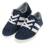 (17~21.5公分)經典百搭台灣製深藍兒童帆布休閒鞋