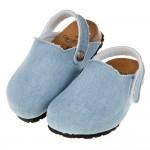 (14.5~20公分)台灣製素面淺牛仔藍兒童歐風氣墊護趾拖鞋...