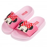 (17~22公分)Disney迪士尼經典米妮粉色兒童拖鞋P#...