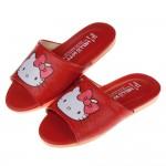 (18~25公分)HelloKitty凱蒂貓紅色蝴蝶結兒童室內拖鞋