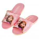 (18~22公分)Disney冰雪奇緣粉色台灣製兒童室內拖鞋