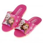 (18~22公分)Disney冰雪奇緣桃色台灣製兒童室內拖鞋