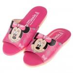 (18~22公分)Disney迪士尼米妮桃色台灣製兒童室內拖鞋
