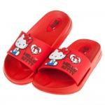 (17~22公分)HelloKitty凱蒂貓經典復刻紅色超輕量拖鞋