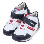 (15~19公分)台灣製白底藍色中筒兒童預防矯正鞋休閒鞋R#...