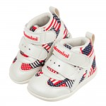 (13~15公分)台灣製美國國旗紅色中筒寶寶機能學步鞋R#M...