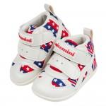 (13~15公分)台灣製英國國旗紅色中筒寶寶機能學步鞋R#M...
