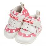 (13~15公分)台灣製小淘氣粉紅圓點中筒寶寶機能學步鞋R#...