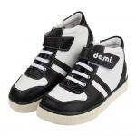 (19~24公分)台灣製黑色經典中筒兒童預防矯正鞋休閒鞋P#...