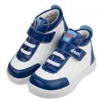 (15~19公分)dami台灣製藍白色皮質兒童預防矯正鞋休閒...