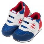 (14.5~19公分)台灣製撞色藍紅白兒童機能鞋墊運動鞋