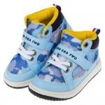 (15~20公分)台灣製迷彩水藍色中筒透氣兒童機能休閒鞋